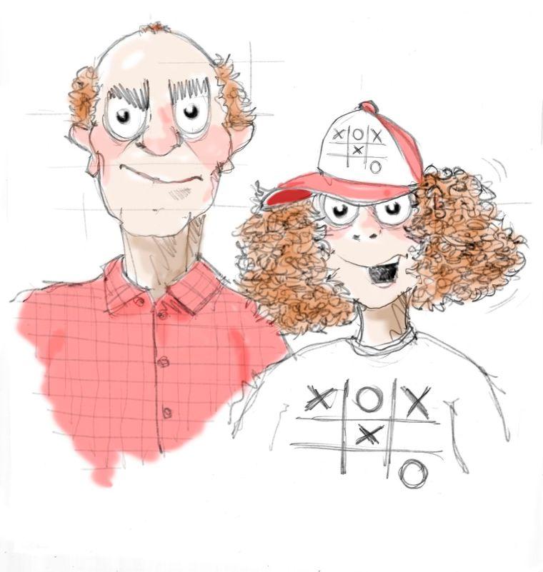 SID-JD Illu Tim und Vater